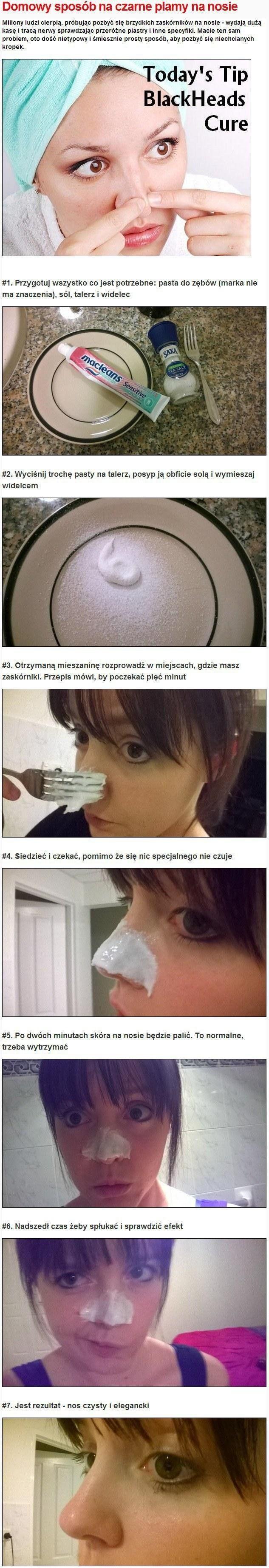 Domowy sposób na CZARNE KROPKI na nosie...