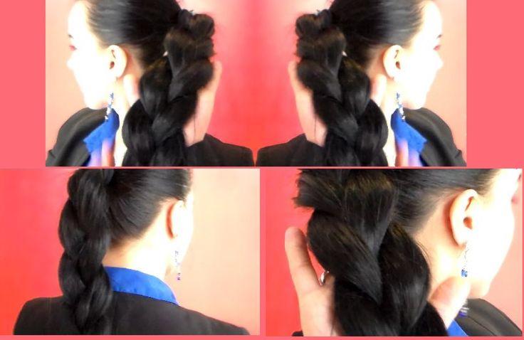 TUTORIAL:Hairstyle/Come fare una coda di cavallo a tre ciocche/How to Ma...