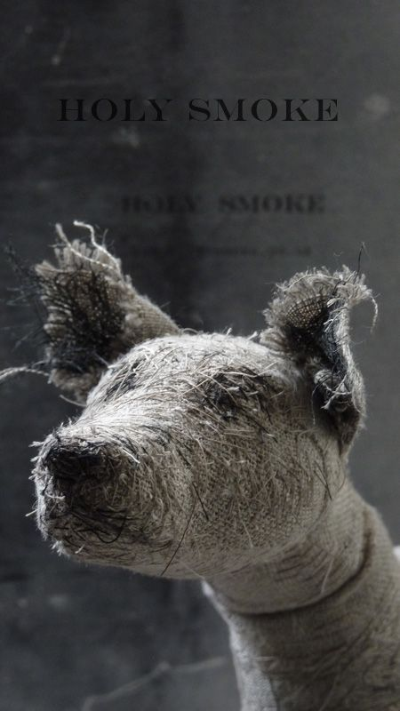 HOLY SMOKE offers a collection of handmade animals and wire sculptures. Using natural linen and vintage textiles the animals are drawn with hand stitching to convey expression and character