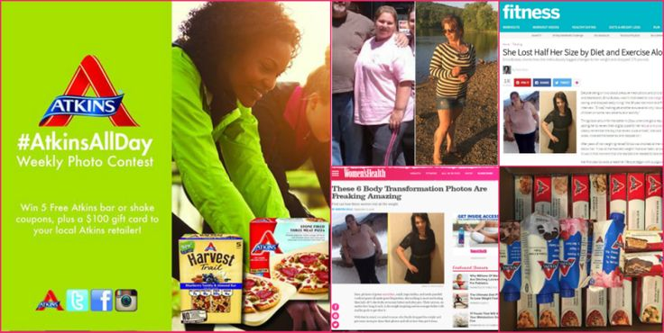 My Low Carb Weight Loss Success is in Fitness and Women's Health Mags! I'm Celebrating With an Atkins Giveaway and Discount! #AtkinsAllDay #Sponsored