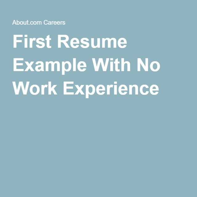 91 best Resumes images on Pinterest Resume, Job search and - no experience resume example