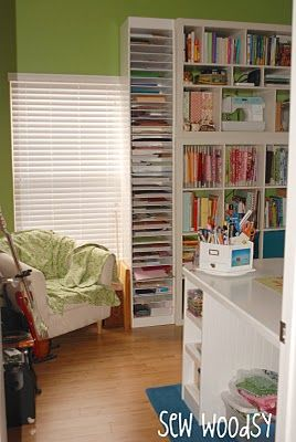 DIY paper storage for the craft room