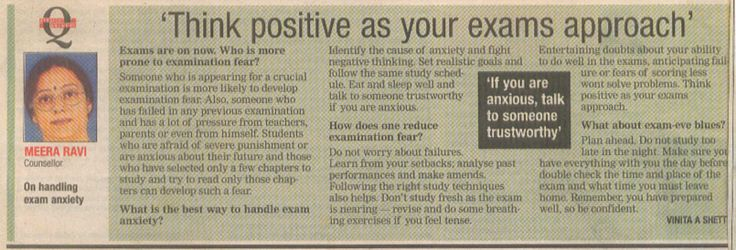 Think positive as your exams approach' #Children #Studytips