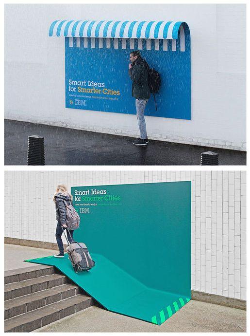 "IBM ads. ""Smart ideas for smarter cities"""