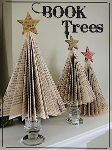 festive folded book page tree - Book Page Decorations