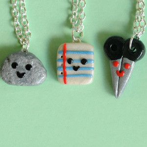 Rock Paper Scissor BFF Necklaces, $35, now featured on Fab. what a cute idea!!!!