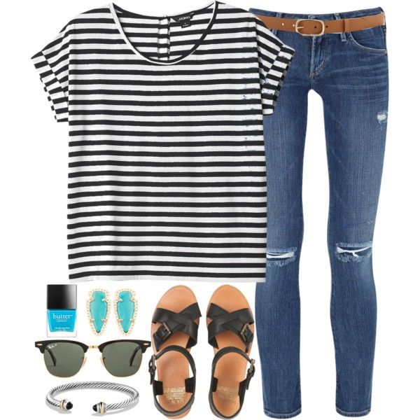 A fashion look from May 2015 featuring Monki t-shirts, Citizens of Humanity jeans and Jack Wills sandals. Browse and shop related looks.