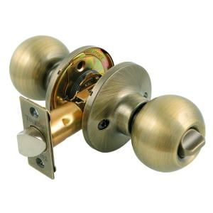 Toledo Fine Locks Antique Brass Privacy Door Knob Lock Set CV1920AVUS5 at The Home Depot - Mobile