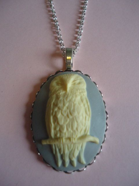 Silver Owl Necklace by TallulahStack on Etsy, $10.00