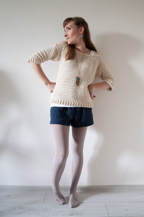 How to turn a fly into an elephant?: Crochet Summer Sweater