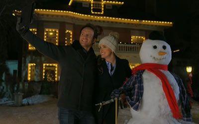 Adam Hurtig and Ashley Newbrough in Snowmance (2017)