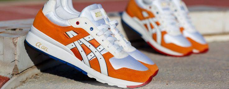 n het Olympisch oranje kledingpakket zijn de Asics GT-II een bijzonder mooi en opvallend onderdeel. De designers van Asics hebben echt coole oranje sneakers gebaseerd op een runningschoen uit de jaren '80. Deze oranje schoenen zijn meegegeven naar de Spelen in Londen aan het Olympisch en Paralympisch Oranje team.