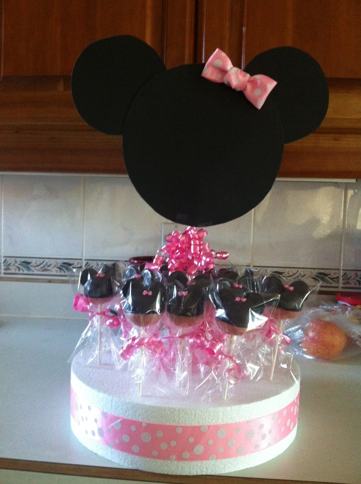 Minnie Mouse cake pops I made :)