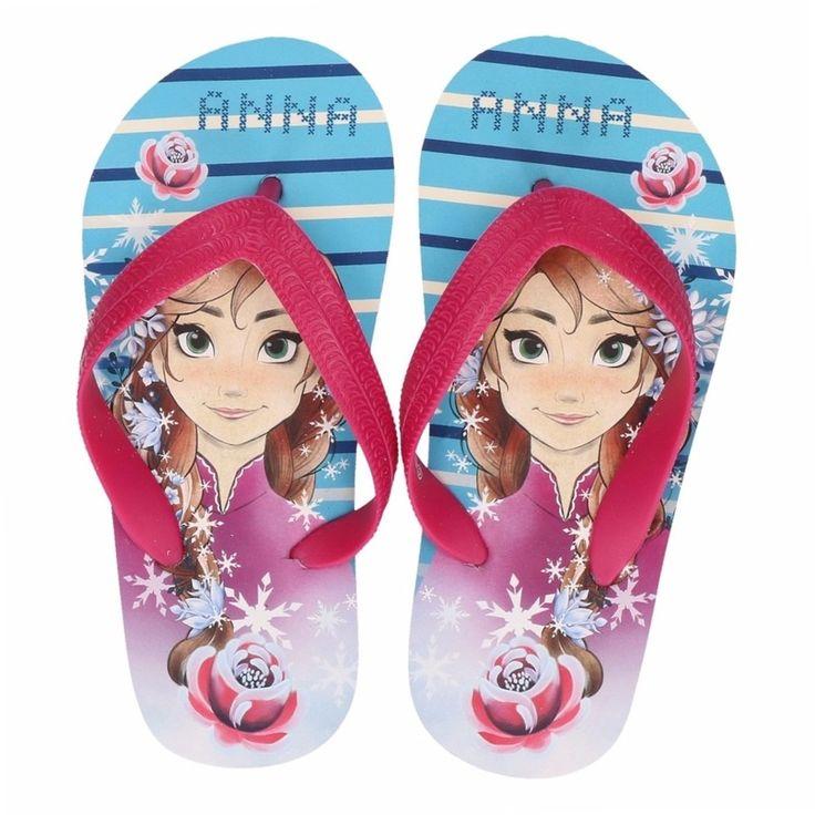Disney Frozen Anna flip flops blauw voor meisjes  Blauw/roze Frozen teenslippers met afbeelding van Anna. De Frozen teenslippers zijn gemaakt van 100% polyethylene en geschikt voor kinderen.  EUR 5.95  Meer informatie  #sinterklaas #zwartepiet
