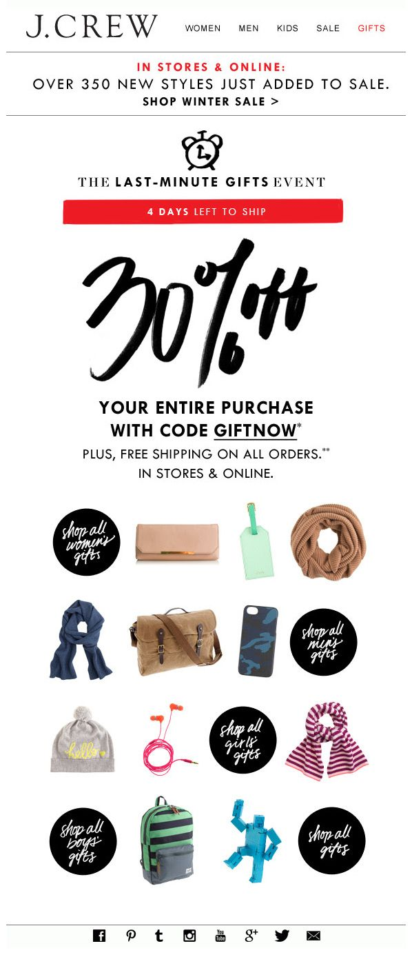 J.CREW : Sale + PDP + Shop By Category Buttons