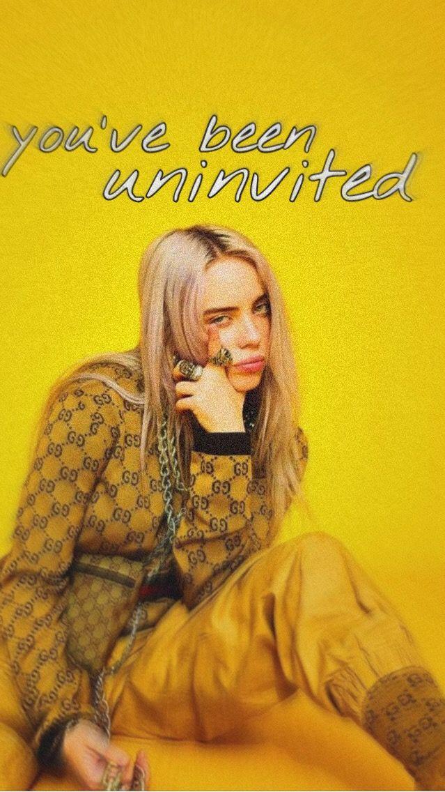 Copycat Billie Eilish Wallpaper Aesthetic Yellow With