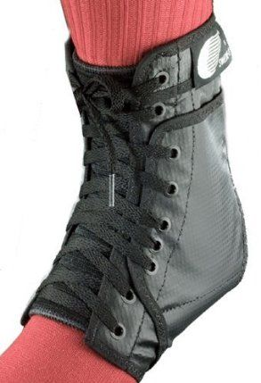 Pair of Swede-O Ankle Lok Lace-Up Ankle Brace, with set of side stabilizer inserts, Black by Swede-O. $35.41. Heavy duty triple layer vinyl laminate construction provides durability and comfort.. Seamless arch fits the contour of your foot and doesnt irritate the bottom of your foot.. Comes complete with side stabilizer inserts for additional support. The inserts may be placed in side pockets of the brace for extra support when needed.. Proven effective in numer...