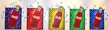 Pop art- do with marmite or l&p for kiwiana art
