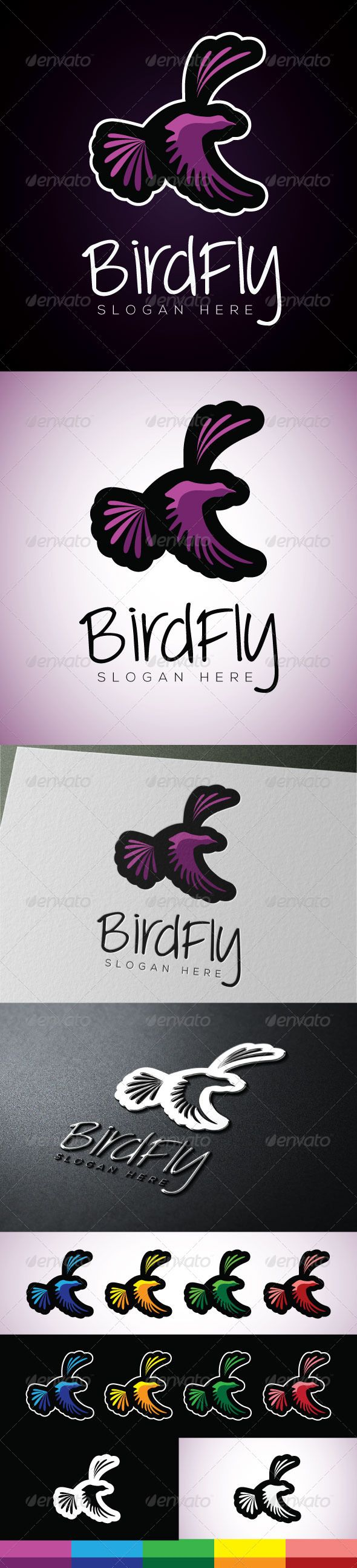 Birdfly — Vector EPS #flying #brand • Available here → https://graphicriver.net/item/birdfly/5039139?ref=pxcr