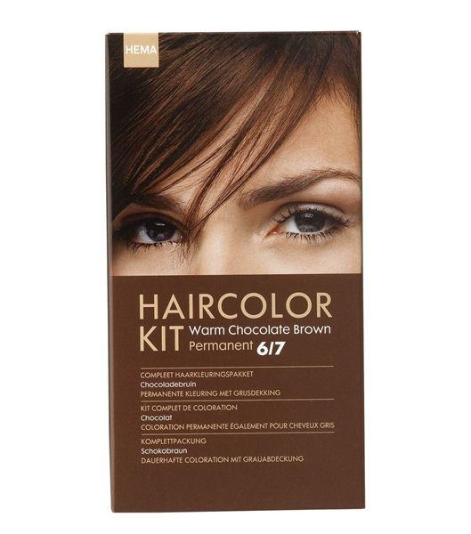 haarkleuring chocolade bruin 6/7 - HEMA