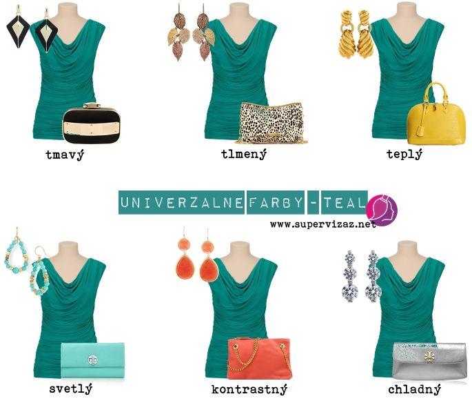 Univerzálne farby - Námornícka modrá a teal
