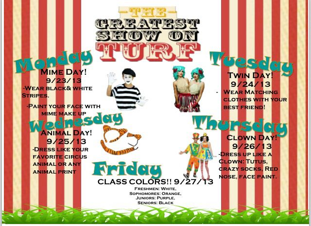 Greatest Show On Turf Homecoming Design on forestry show, landscaping show, mud show, surf show,