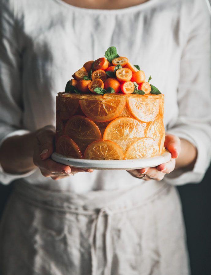 Candied Orange Olive Oil Cake Cornmeal Rum Rezept Olkuchen Kuchen Ideen Kuchen Rezepte