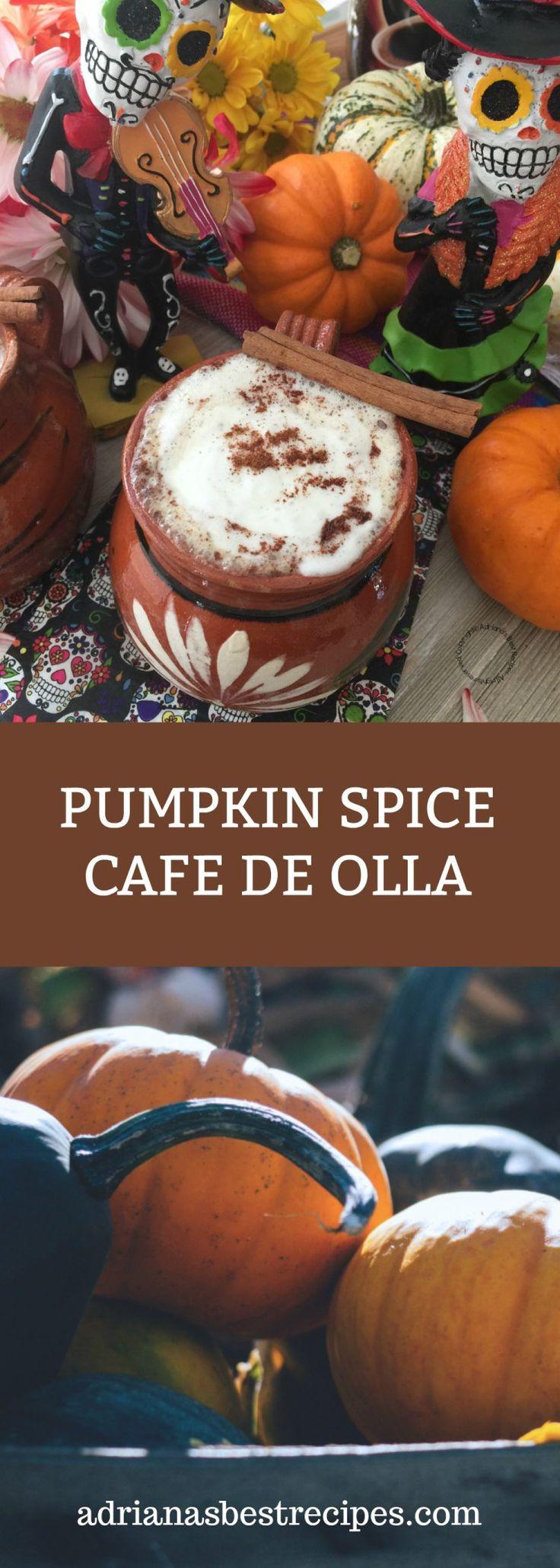 El cafe de olla con especia de calabaza está inspirado en el Pumpkin Spice Cafe Latte