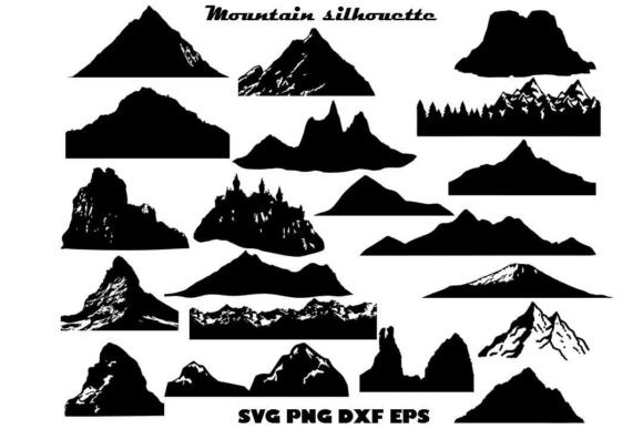 Mountain Silhouette Graphic By Twelvepapers Creative Fabrica Mountain Silhouette Silhouette Svg Digital Paper