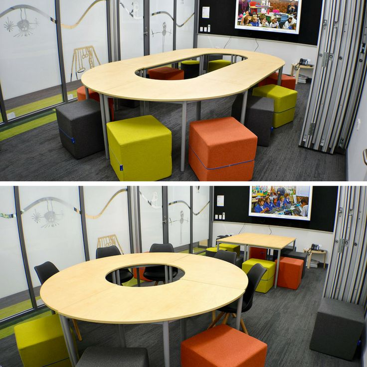 The NorvaNivel Collaborative Collective table facilitates multiple types of meetings and can be used in a range of spaces.
