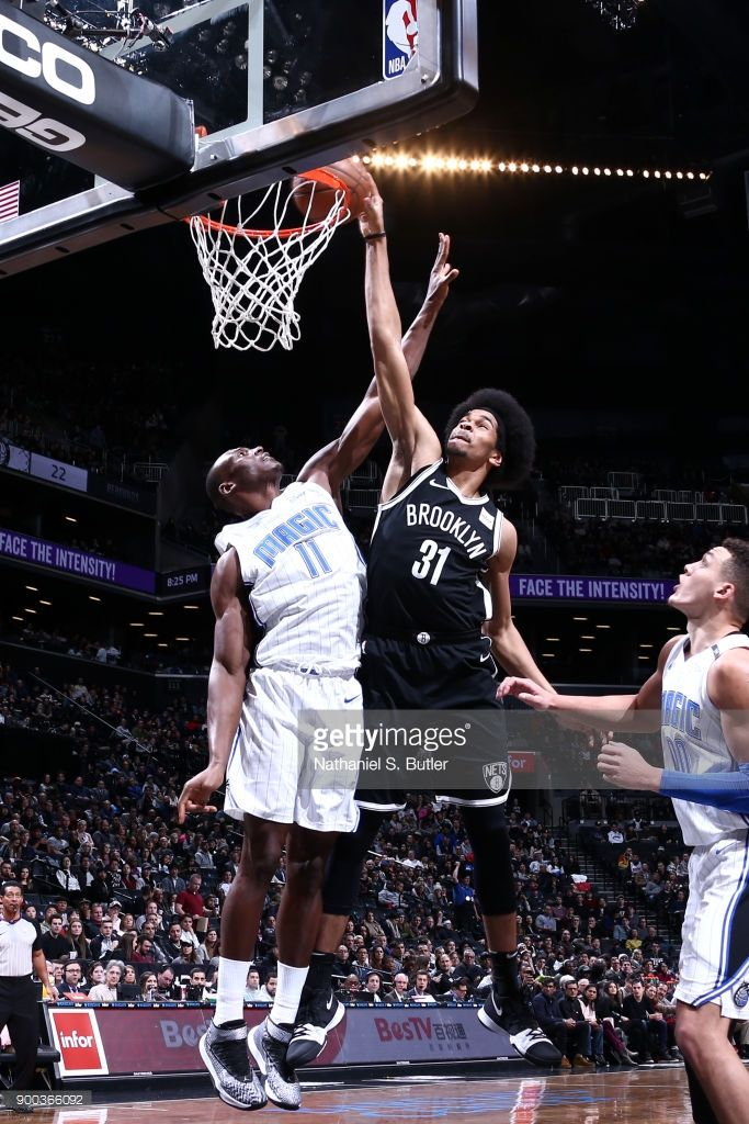 Jarrett Allen  31 of the Brooklyn Nets shoots the ball against the Orlando  Magic on January 1 2b41655c4