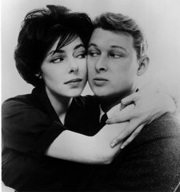 Elaine May with Mike Nichols early great comedy team. .
