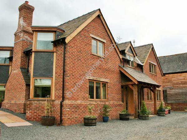 Contemporary Oak Porch to new Build www.brownsjoineryltd.co.uk