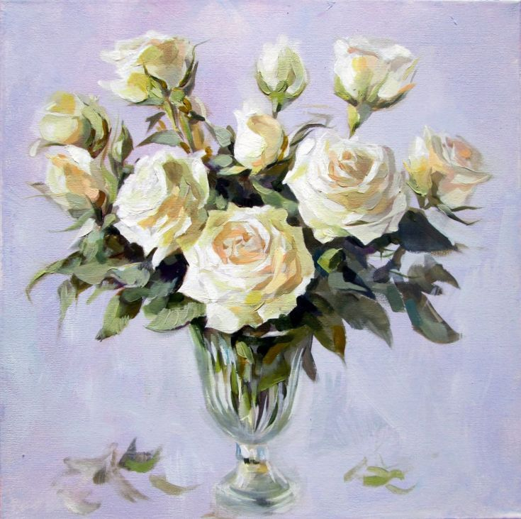 Buy White Rose, Oil painting by Igor Pautov on Artfinder. Discover thousands of other original paintings, prints, sculptures and photography from independent artists.