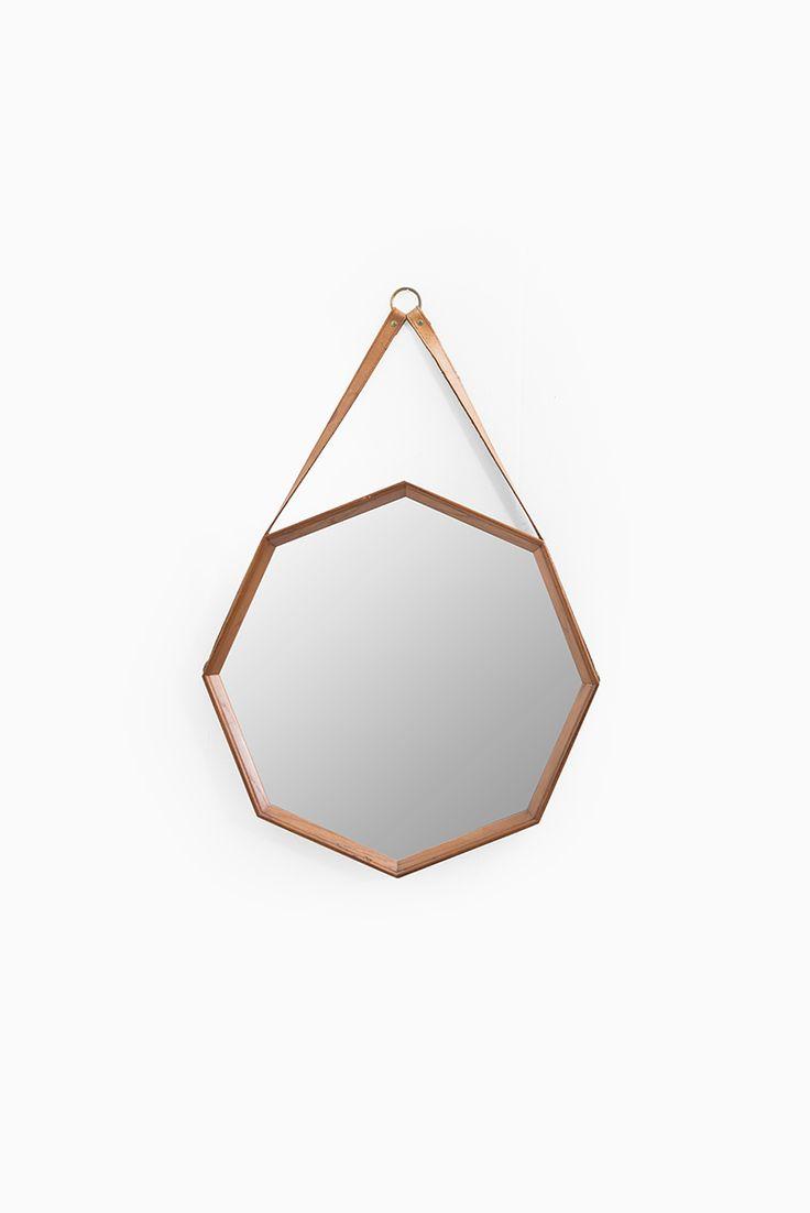 Mid century teak mirror