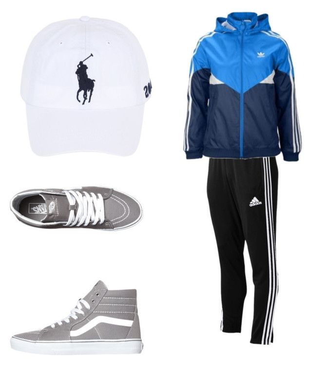 """tracksuit"" by caoimheod on Polyvore featuring Vans, Polo Ralph Lauren, adidas, men's fashion and menswear"