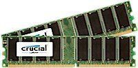 2GB kit (1GBx2) Upgrade for a Dell Dimension 4600 System (DDR PC3200, NON-ECC, CL=3)
