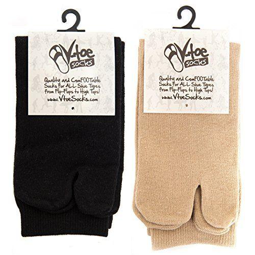 V-Toe Black & Khaki Flip Flop Tabi Socks (2 Pairs) V-Toe ... https://www.amazon.com/dp/B01ATMVELM/ref=cm_sw_r_pi_dp_x_Yrh7xbQ96PJ4C