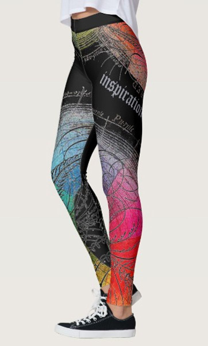Rainbow Inspiration 2.0 - Customizable Leggings by NDGRags on Zazzle. Unique and lovely.