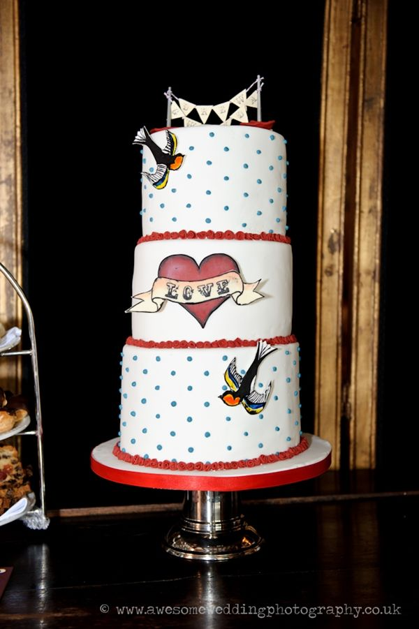Tattoo Style Wedding Cake