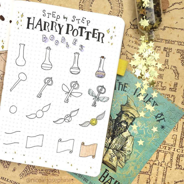 Part 2: 80+ Magical Harry Potter Bullet Journal layout ideas