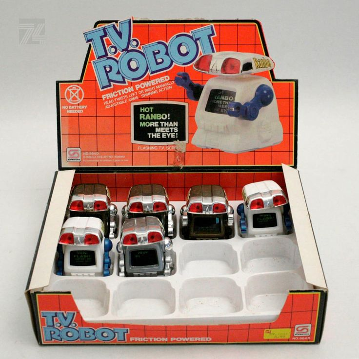 T.V. ROBOT Shop Counter Display - cyan74.com vintage and pop culture