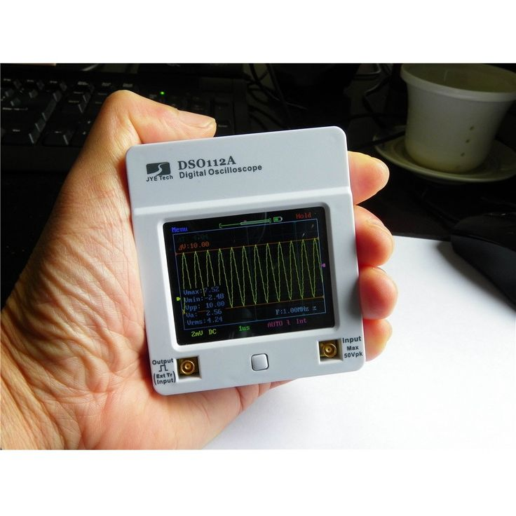DSO112A Upgrade Version 2MHz Touch Screen TFT Digital Mini Handheld Oscilloscope With Battery