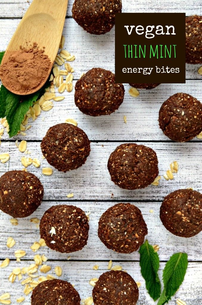 Thin Mint Energy Bites | vegan + gluten-free | blissfulbasil.com