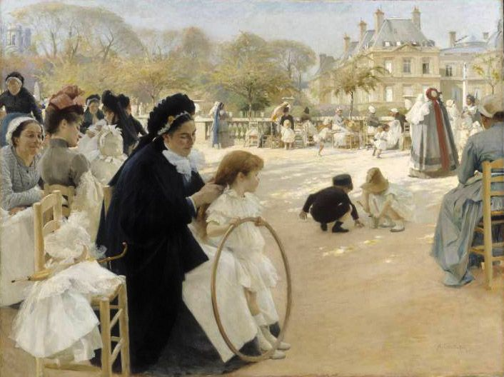 Le Jardin du Luxembourg (1887) Edelfelt (1854-1905) was one of the greatest Finnish artists of the late 19th century.