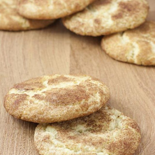 Snickerdoodles should be chewy in the center with a slight crust around the edges.