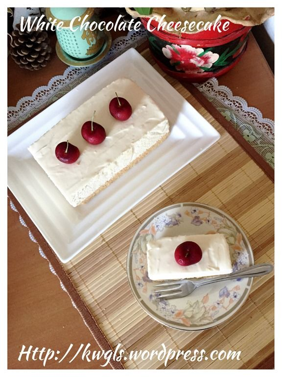 White Chocolate Cheesecake #guaishushu #kenneth_goh  #white_chocolate_cheesecake  #白巧克力芝士蛋糕