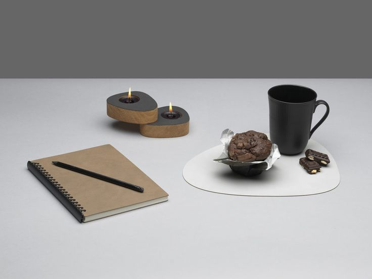 PAPER BLOCK + TABLE MAT + CURVE CANDLE HOLDER TEALIGHT + cake, chocolate and coffee = HYGGE #linddna