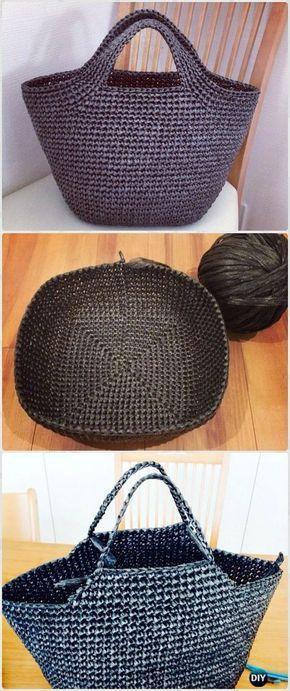 Crochet Vinyl String Handbag Free Pattern - Crochet Handbag Free Patterns Instructions