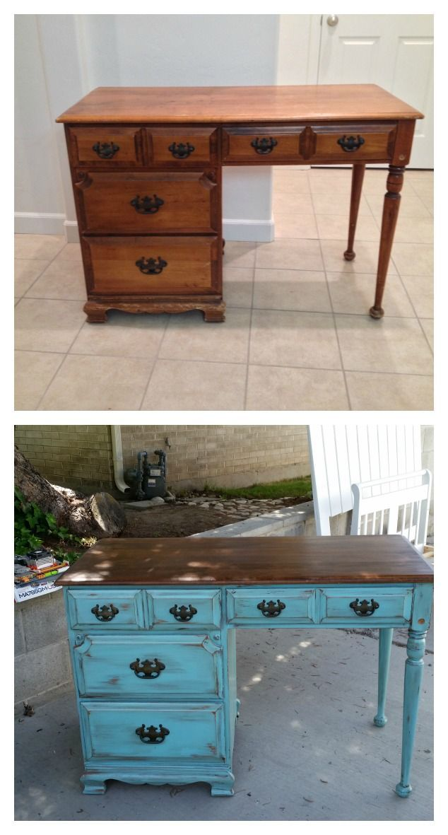 Image result for repainted desk